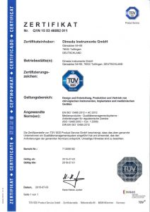13485 Zertifikat D