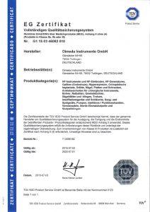 MDD-EG - Zertifikat D