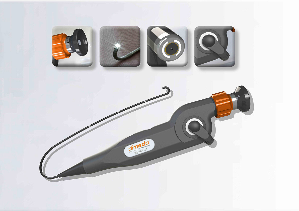 Dimeda Surgical Instruments - Anbieter von Chirurgischen Instrumenten - Naso-Pharyngo-Laryngoscope